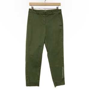 J Crew Army Green Ankle Chinos